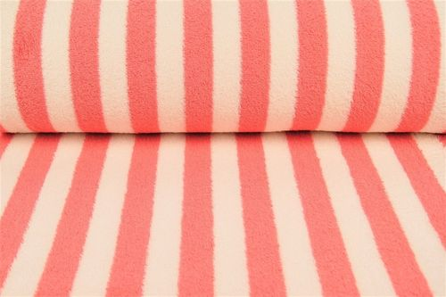 Towel fabric stripes 9950-614 Corail