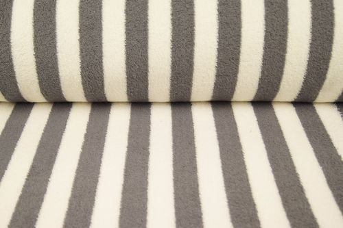 Towel fabric stripes 9950-68 Dark Grey