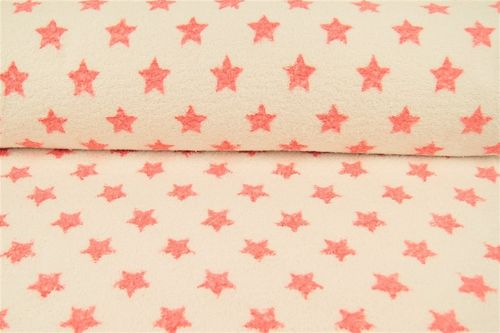 Towel fabric stars 9951-614 Corail