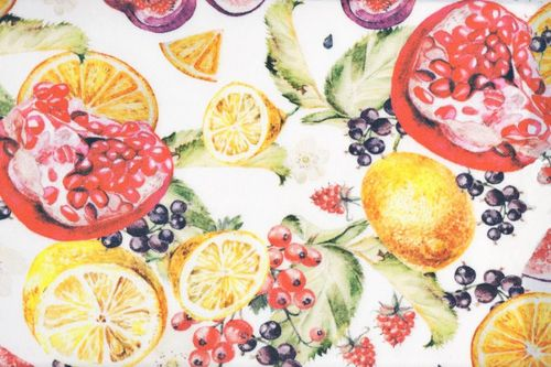 Stain Resistant Tablecloth MAISON 7001 FRUITS