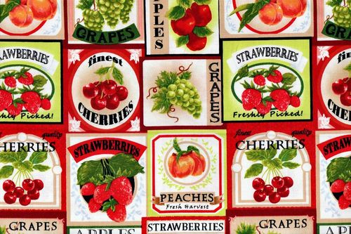 Fresh harvest fruit labels