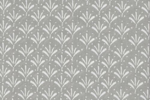 Stamped Fabric cotton  yucca gris