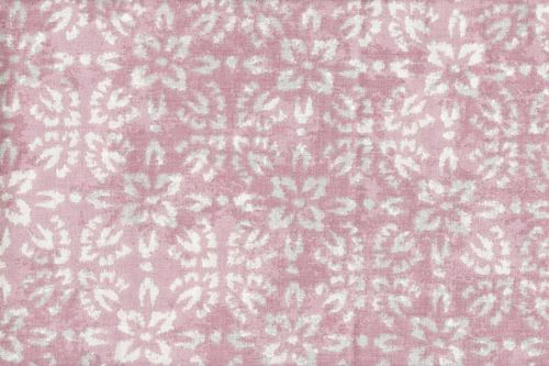 Stamped Fabric cotton  shirobi rose