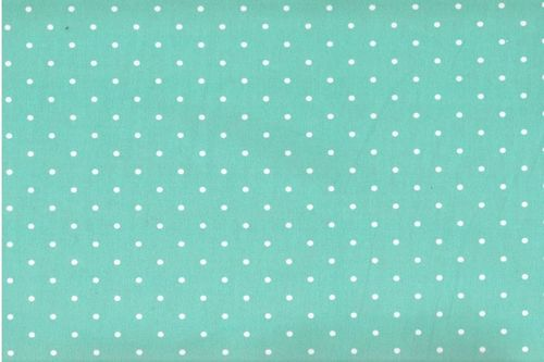 Stamped Fabric cotton green dot