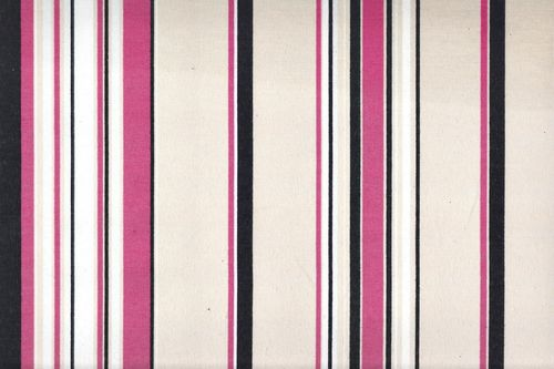 Printed canvas stripe black fuchsia