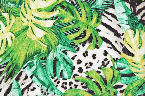 Printed canvas green jungle