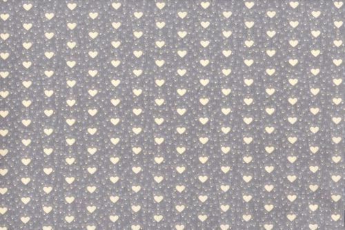 Resinated tablecloth mini coeur gris