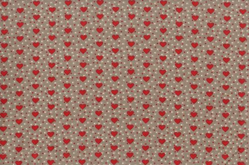 Resinated tablecloth mini coeur rouge
