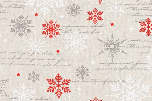 Linen Christmas castle 10 red