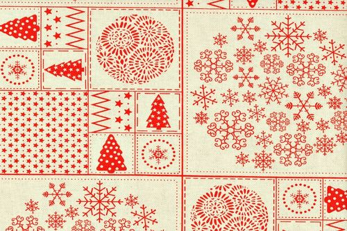 Linen Christmas gannett 10 red