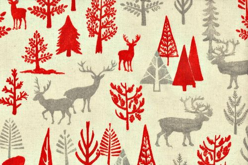 Linen Christmas wyoming 10 red