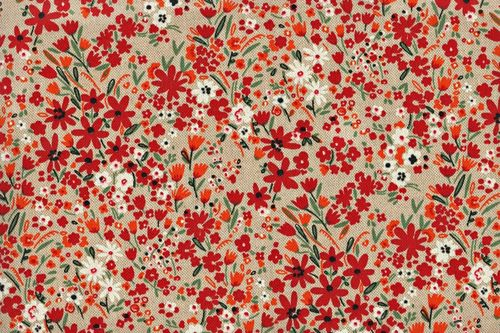 Rustic cotton liberty palace rouge