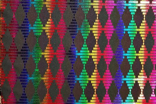 Lycra diamond multicolor