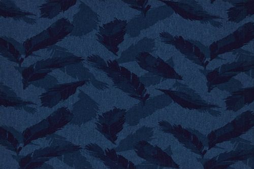 Punt estampat  kc2017-023 feather navy