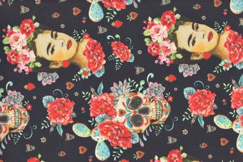 Digital Half Panama Frida catrina black
