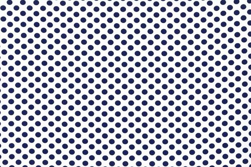 Koshivo crepe dots little white navy