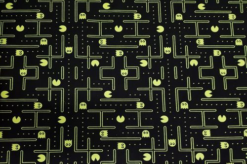 Cotton digital neon Pac-Man
