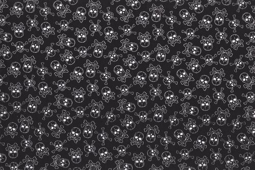 Cotton skull all over black