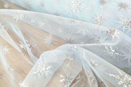 Bright star skyblue Tulle