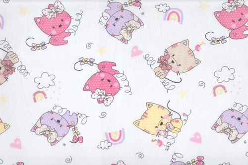 Cotton r gatos pink
