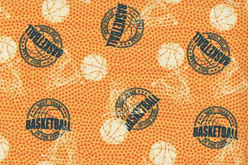 Cotton IN digital basketball orange